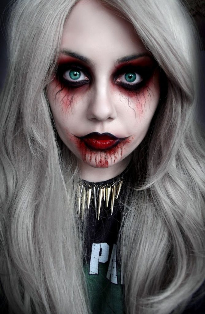 maquillage zombie girl