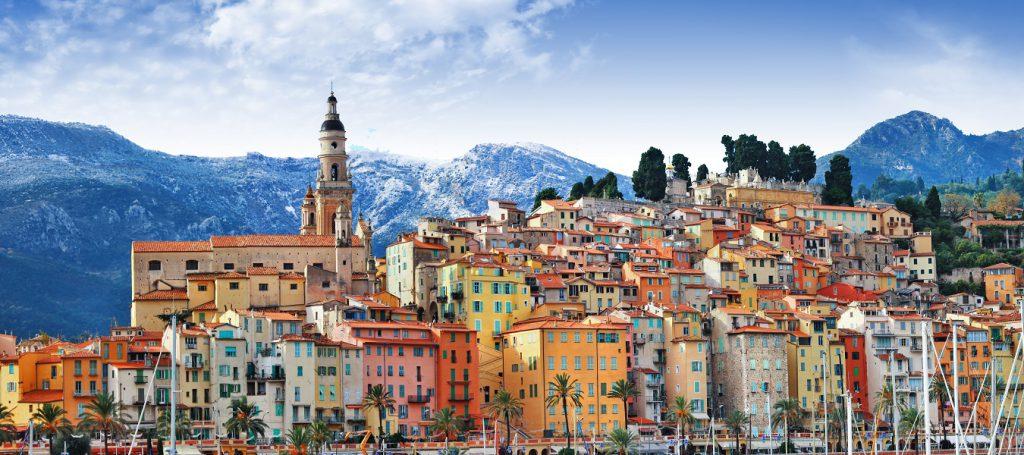 colors of Southern Europe - Menton - beautiful town, border Franc