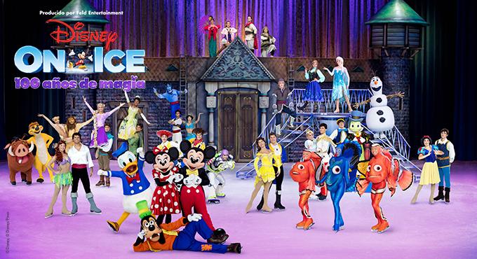 Algunos de los personajes del espectáculo Disney