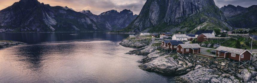 La ciudad noruega de Berger