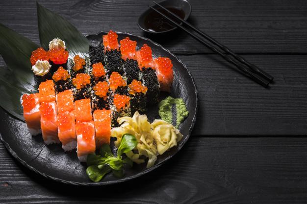 El sucedáneo de caviar se emplea mucho en la gastronomía japonesa