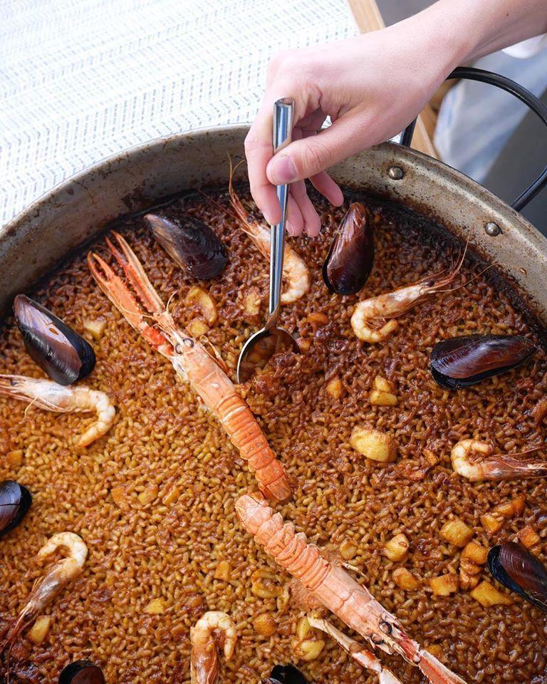 Paella marinera del restaurante Salicornia
