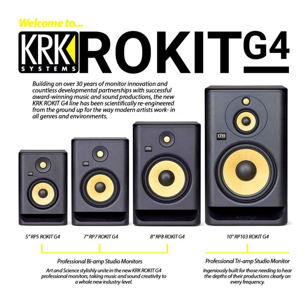 monitores activos krk rokit g4