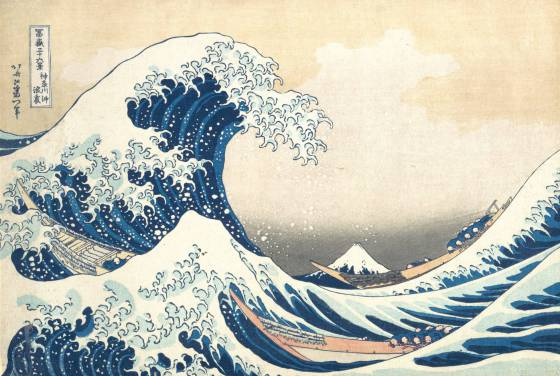 arte oriental animal croosing •Gran ola de Kanagawa